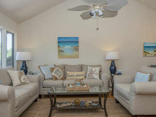 Beautifully appointed living area with all new furniture.