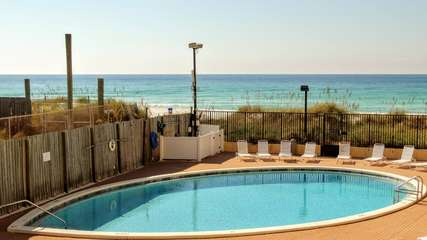Beach side pool gives you the best of both worlds