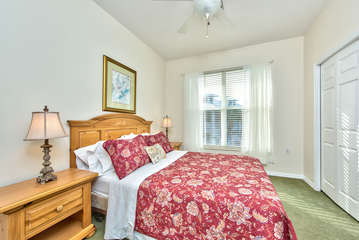 Queen Bedroom with Fan; Entrance to 2nd Bathroom!
