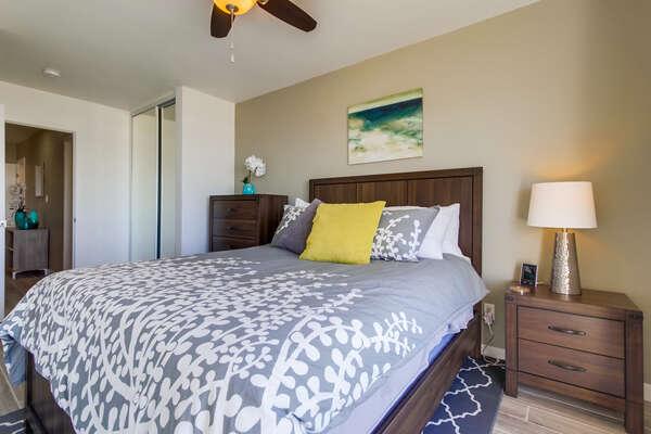 Master bedroom, convenient ceiling fan