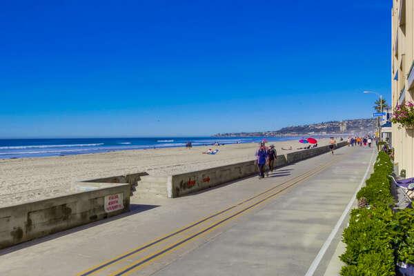 Mission Beach's famous boardwalk
