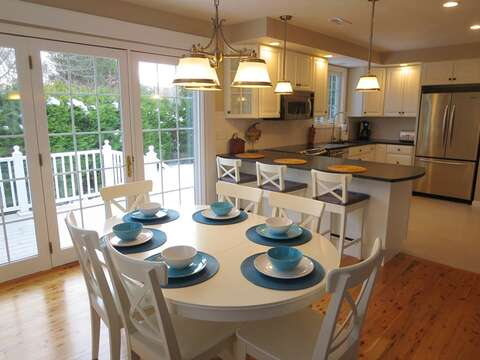 Dining area open to kitchen, will seat 10 all together - 9 Wilfin Road South Yarmouth Cape Cod - New England Vacation Rentals