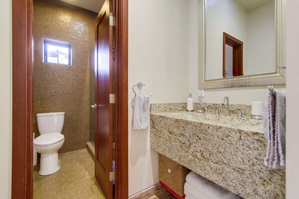 2nd floor bathroom with hallway access, standing shower
