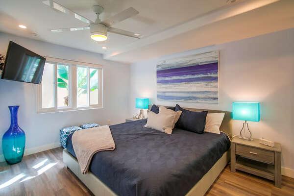 Second floor, Master bedroom with king bed and en suite bathroom
