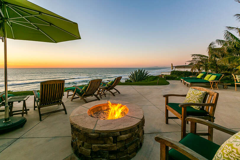 Fire pit adds the perfect ambience