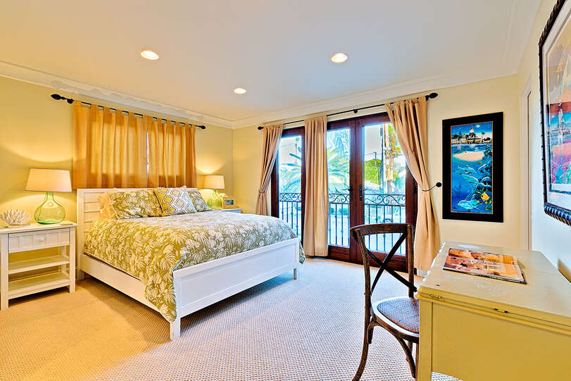 All bedrooms include large doors to let sea breezes in
