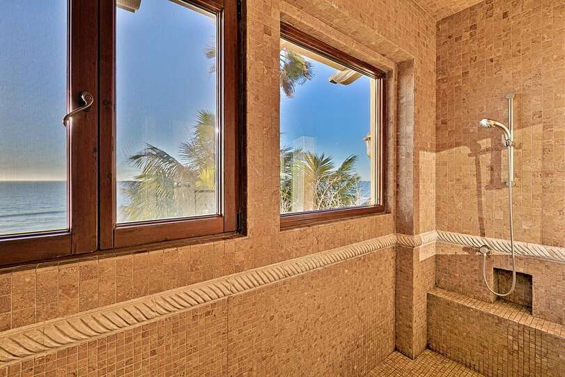 Huge shower with a view