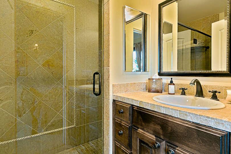 Each bathroom has a unique design