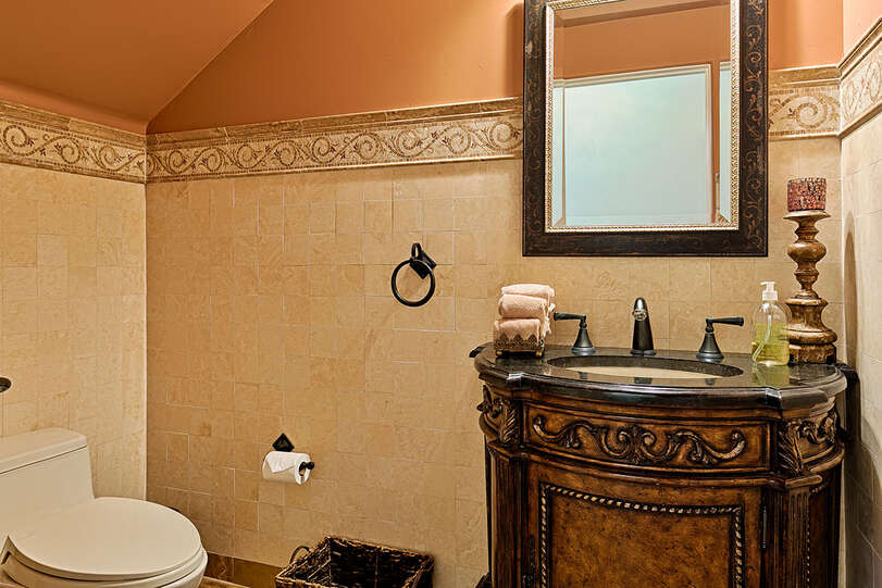 Additional bathroom with beautiful vanity