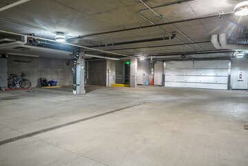 Designated parking spot in the heated garage - a great bonus in Downtown Steamboat Springs