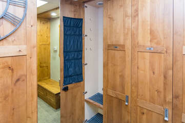 Private ski locker available to you
