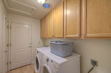 New appliances in laundry room will keep your wardrobe clean and ready to go