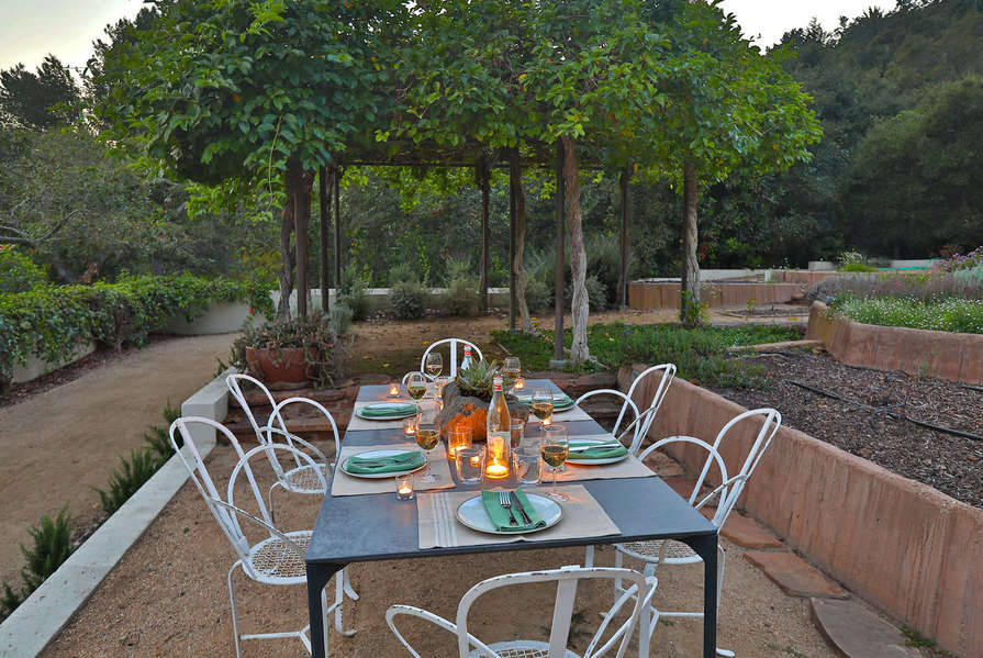 Or dine amongst the renowned garden