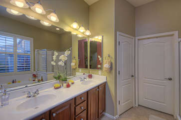 Ample closet space for your personal wardrobe and belongings in master suite
