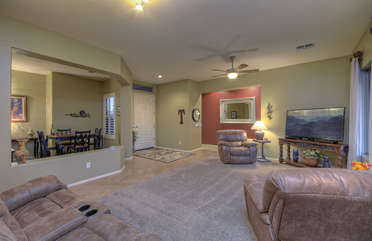 Home's floorplan is spacious and decor is tantamount to gracious living at its best
