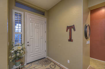 Step inside front door to begin exciting vacation in lovely home