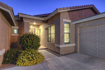 Entrance way to fabulous home with impressive amenities both inside and out