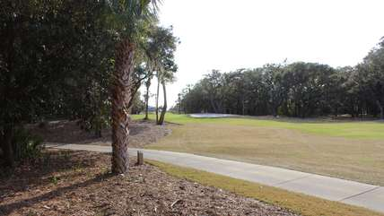 A view of the 8th hole of Ocean Winds golf course.