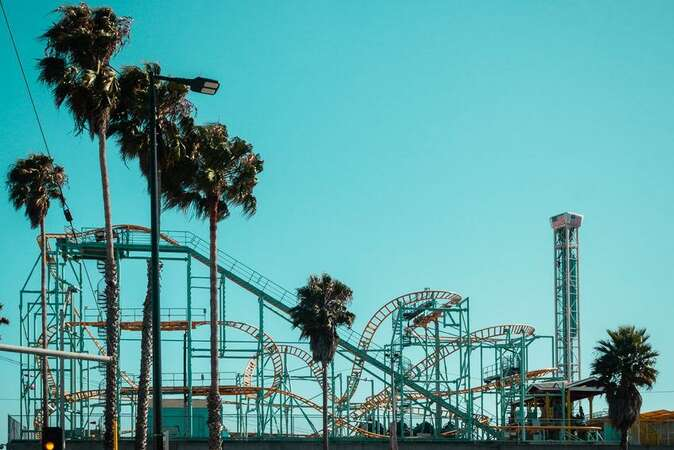 Walk to the Santa Cruz Beach Boardwalk and famous Giant Dipper Roller Coaster!