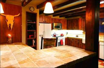 Fully Equipped Kitchen with Tile Finishes