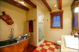 Soaking Tub in the Master Bath