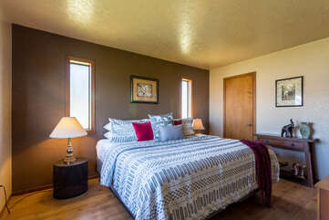 Relax in the king bed in the master suite.