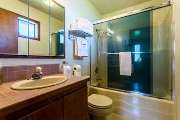 Ensuite bath is a wonderful addition.