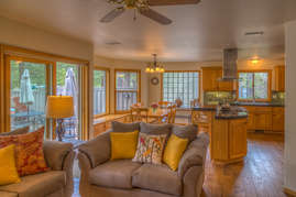 Family Room, Dining and Kitchen
