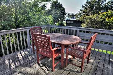 The expansive deck offers another oasis.