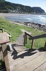 Use these stairs to see the incredible Yachats River.