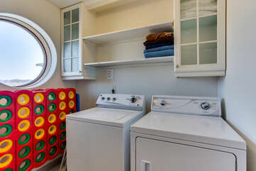 Washer and dryer to clean up after a fun day at the beach!