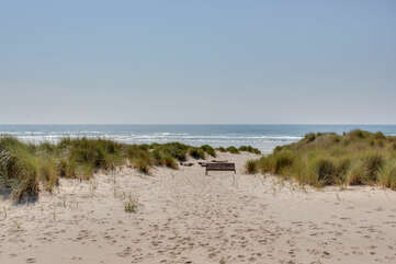 Miles of sandy beach beckons you!