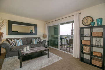 Seating for everyone and a balcony with a gorgeous ocean view!