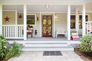 The cute front porch