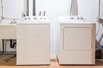 Full washer and dryer in the basement