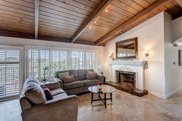 Large open space living room