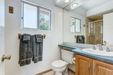 Studio apt bathroom
