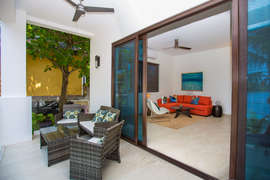 Large sliding doors to catch the sea breeze