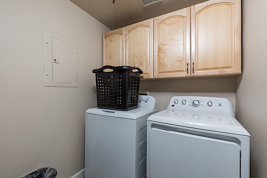 Laundry Room - Full size, Brand New Washer & Dryer in condo