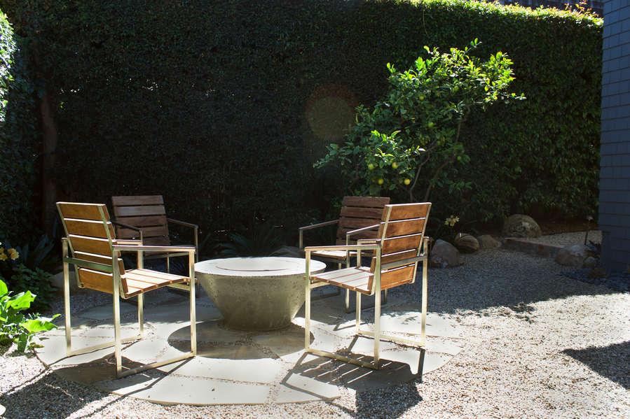 Great, private backyard