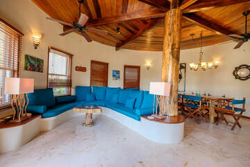 Indigo Belize 4A Main living room area