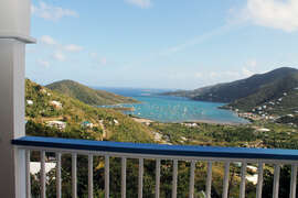 Views of Coral Bay from lower deck