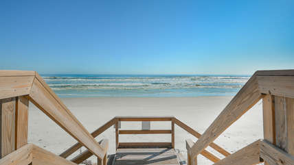 Step onto the non-driving beach of New Smyrna Beach.  Famous for it's quaint old town feel and quiet local streets.
