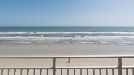 Unforgettable views of the Atlantic Ocean and maybe you too can catch the dolphins swimming by for their morning hello.