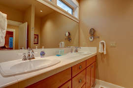 Downstairs Master His and Hers Vanity