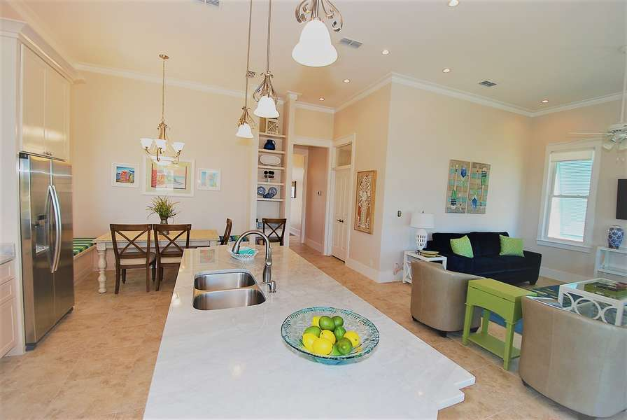 Beautiful open living area; perfect for quality time together with friends or family.