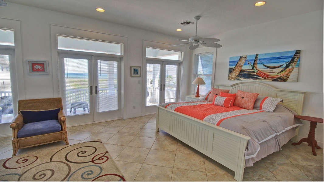 Master Bedroom; King Size Bed; 3rd Floor Beach Facing