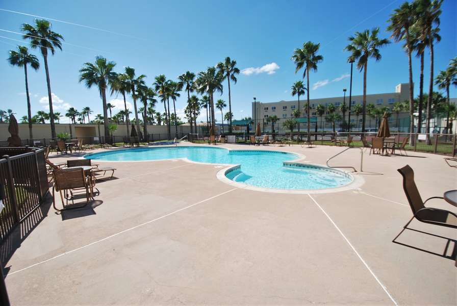 Enjoy a dip in one of the two pools