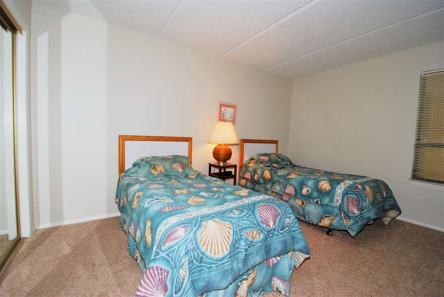 3rd Bedroom; 2 Twin Sized Beds - Carpeted
