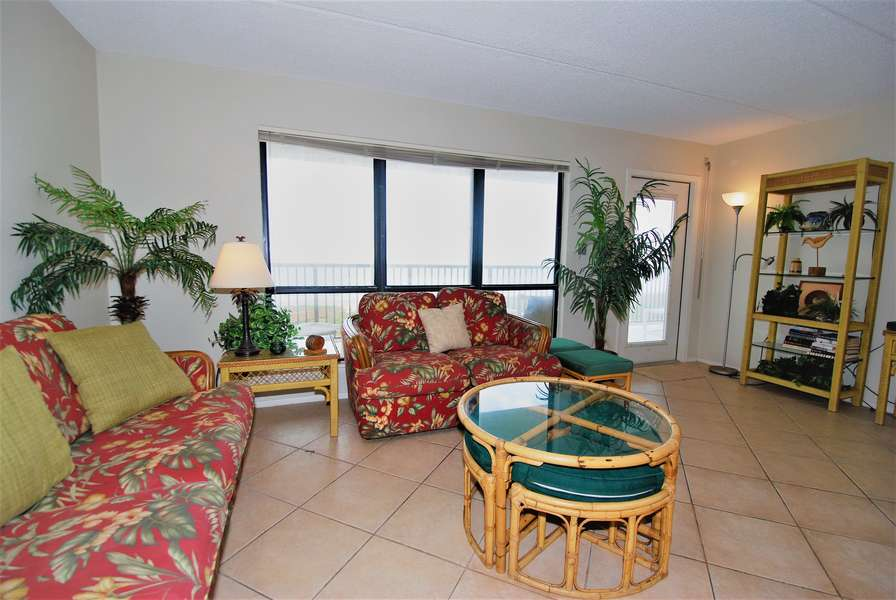 Door in Living Room Leads to Private Balcony - Overlooks the Beach/Gulf